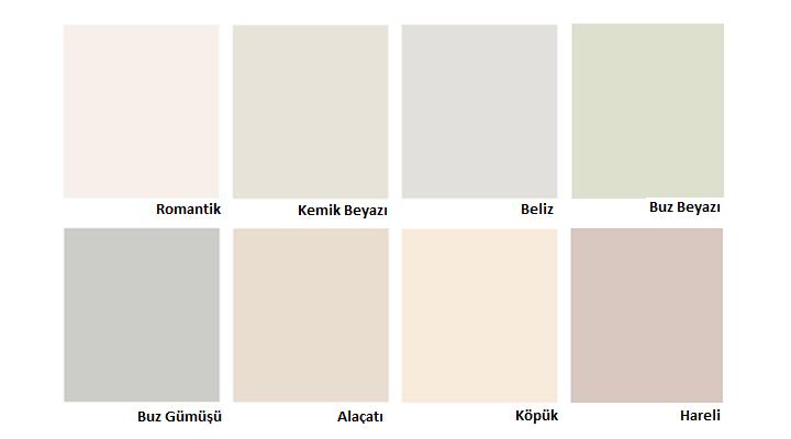 Dyo Renk Kartelası