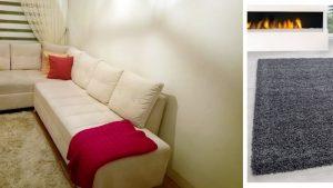 Soru 27: Oturma Odası İçin Krem Köşe Koltuk İle Gri Halı Renk Uyumu