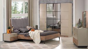 Soru 41: Antrasit Gri Bej Yatak Odası Takımı İle Uyumlu Halı Perde Önerisi