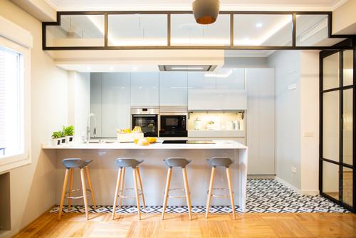 Gri Mutfak Dekorasyonu ve Gri Mutfak Dolapları