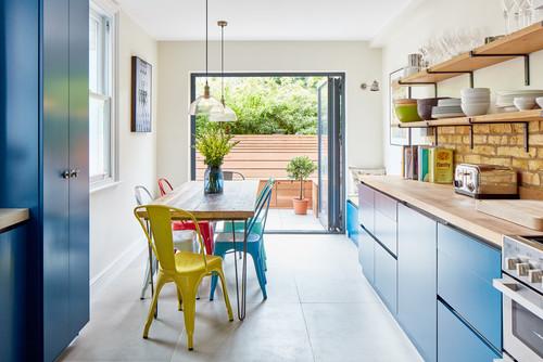 Mavi Mutfak Dekorasyonu ve Mavi Mutfak Dolapları