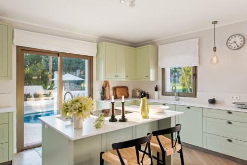 Yeşil Mutfak Dekorasyonu ve Yeşil Dolap Modelleri