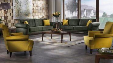 Soru 3: Salon Dekorasyonu İçin Retro Halı ve Perde Tavsiye