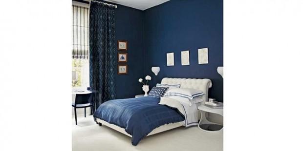 yatak odası mavi